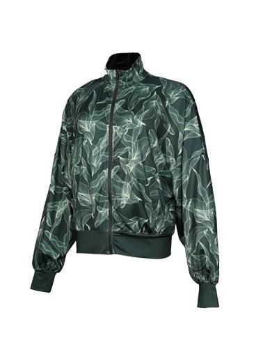 Hummel Alben Fermuarlı Sweatshırt Yeşil